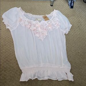 Hollister NWT sheer pink blouse